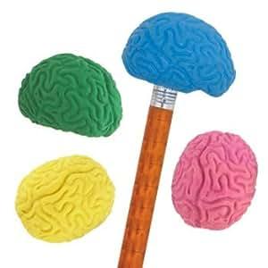 Brain Shaped Pencil Top Erasers - 36 per set
