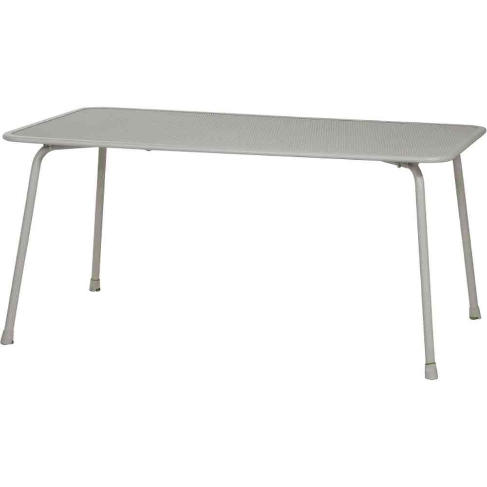 MWH Keido Tisch, Stahl, Streckmetall, 160 x 90 cm, grau