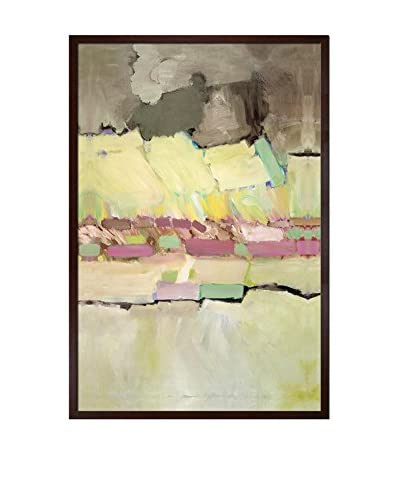 """Allan P Friedlander """"Pink And Yellow"""" Framed Print on Canvas"""