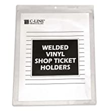 C-Line Vinyl Shop Ticket Holder, 8.5 x 11 Inches, Both Sides Clear, 50 per Box (80911)
