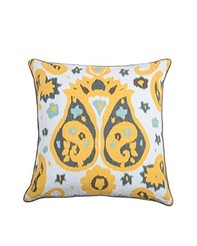 Rizzy Home Yellow Bailee Throw Pillow