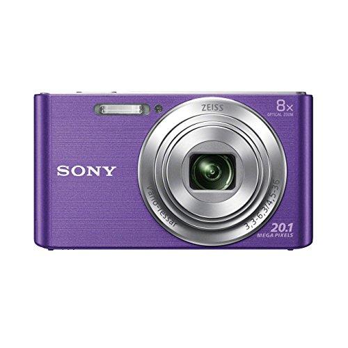 Sony DSC-W830 Fotocamera Digitale Compatta Cyber-shot, Sensore Super HAD CCD da 20,1 Megapixel, Obiettivo ZEISS Vario-Tessar con Zoom Ottico 8x, Viola