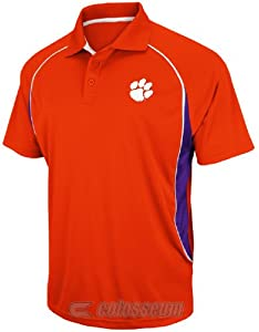 NCAA Clemson Tigers Synthetic Playmaker Polo Shirt by Chiliwear by Chiliwear LLC