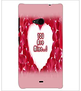 PrintDhaba Heart with Quote D-2254 Back Case Cover for MICROSOFT LUMIA 535 (Multi-Coloured)