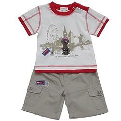 Baby Boys 12-24 Months 2 Piece 3-4 Shorts Set, Tourist Dog Print.