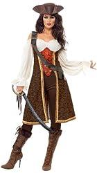 Smiffy's Women's High Seas Pirate Wench Costume
