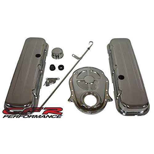 1965-95 Chevy Big Block 396-427-454-502 Chrome Steel (Short) Engine Dress Up Kit - Smooth