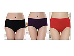 Gojilove Menstrual proof, anti-leaking and water proof panty (Black, Red, Purple)- combo of 3(S)