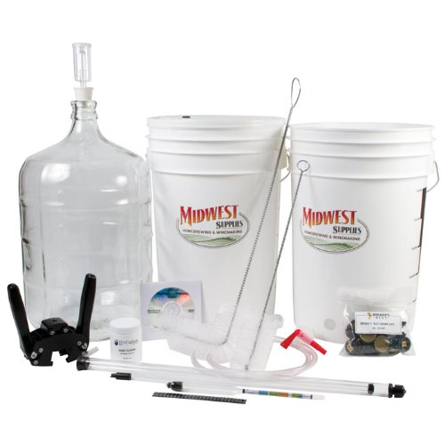 Home Brewing Equipment Kit with Carboy & Instructional Beer Making DVD : Homebrew Supplies