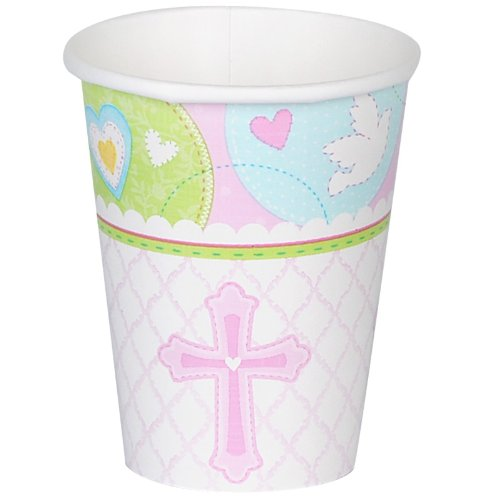 Amscan - Sweet Blessing Pink 9 oz. Paper Cups