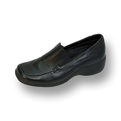24 HOUR COMFORT Riley Women Extra Wide Width Slip-On Shoe BLACK 8