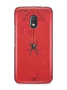 YuBingo Spider Hanging from Web Designer Mobile Case Back Cover for Motorola G4 Play