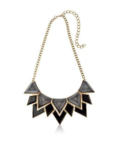 Majique Collar Black, Grey, Gold Tone