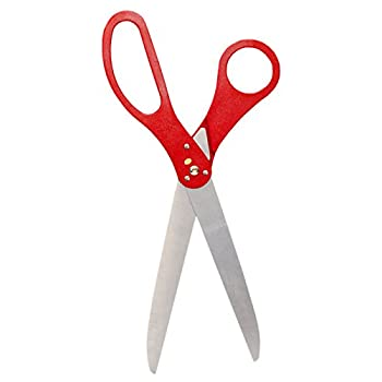 30 Inch Long Big Ceremony Ribbon Cutting Scissors Red