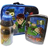 BEN 10 Alien Force LUNCH BAG KIT - INCLUDING WATER BOTTLE, SANWICH BOX & LUNCH BAG