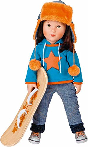 Käthe Kruse 41593 - Cool Girl Toni mit Snowboard