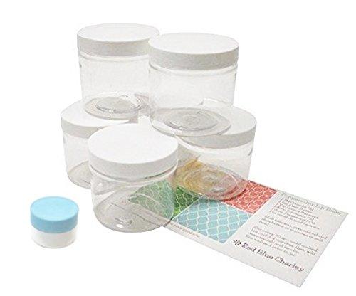 Clear 4 oz Plastic Jar White Lid 6 pk with Mini Jar (4 Oz White Plastic Jar compare prices)