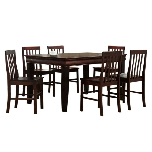 Cheap 7 Piece Dining Sets: Dining Room Sets: Walker Edison 7-Piece Fancy Solid Wood