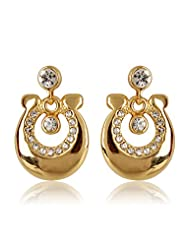 Estelle Gold Plated Stud Earring With Crystals (498/729)