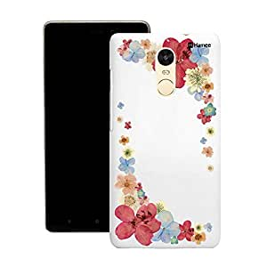 Customizable Hamee Original Designer Cover Thin Fit Crystal Clear Plastic Hard Back Case for Motorola Moto X Play (Red Corner Flowers)