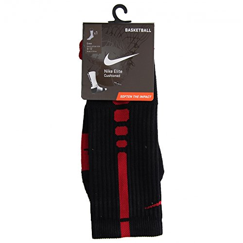 Nike Men's Elite Cushioned Crew Socks Large (shoe size 8-12) (Black)