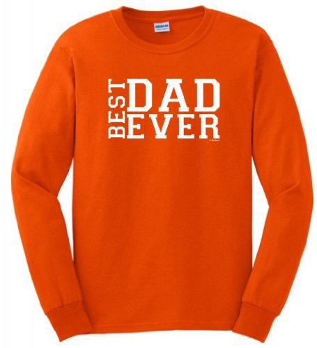 Best Dad Ever Father'S Day Long Sleeve T-Shirt Small Orange front-930310
