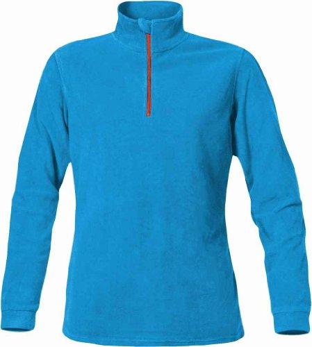 Stormtech Vfp-1W Women'S Microfleece 1/4 Zip Sweatshirt Electric Blue/Flame Red X-Large