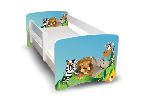 BEST FOR KIDS LIT POUR ENFANT 80x160 AVEC RAMBARDE de sécurité lit junior + GRATUIT Zoo