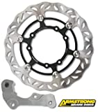 ARMSTRONG OVERSIZE KAWASAKI FRONT FLOATING BRAKE DISC MX WAVY 1PC 270MM WITH ADAPTOR #0302