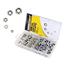 MAXCRAFT by MIT 7692 Nylon Insert Lock Nut Assortment, 150-pc.