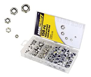Maxcraft 7692 Nylon Insert Lock Nut Assortment, 150-Piece