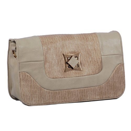 Vieta Keira Faux Ostrich Skin Finished Clutch Purse Crossbody Convertible Handbag, Colors Available front-223390