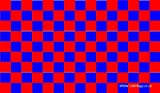Inverness Red and Blue Checkered 5'x3' Flag