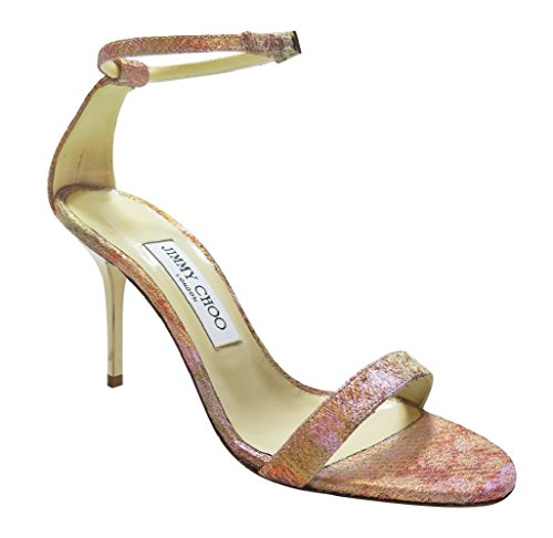 Jimmy Choo Pink Glitter Sandals 7