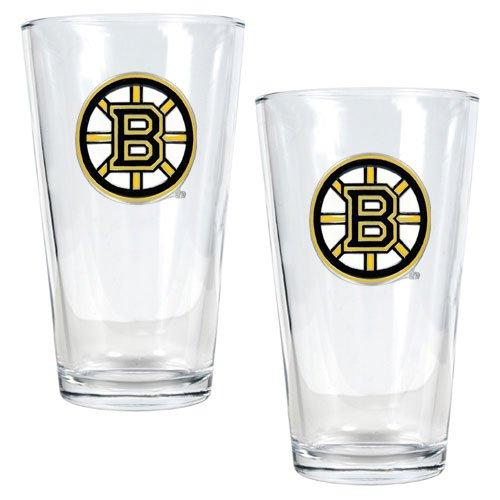 NHL Boston Bruins Two Piece Pint Ale Glass Set - Primary Logo