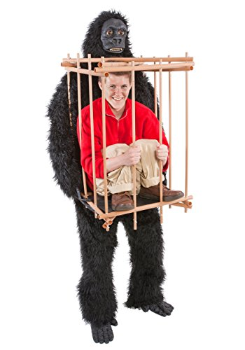 Man in a Gorilla Cage Halloween Costume