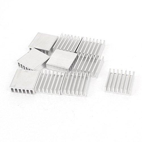 sourcingmapr-10-pcs-couleur-argent-radiateur-en-aluminium-dissipateur-de-chaleur-20mm-x-20mm-x-6mm
