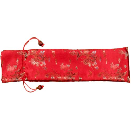 Protective Silk Mahjong Rack and Pusher Bag - Red