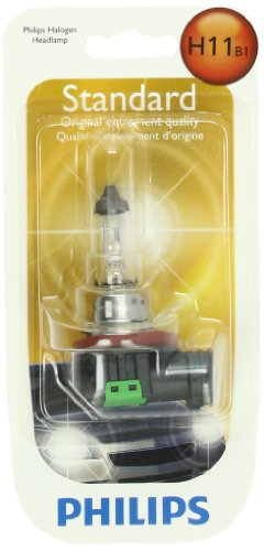 Philips H11 Standard Halogen Headlight Bulb (Pack of 1) (Headlights Koup compare prices)