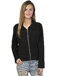 Bonhomie Women Jacket [BCQS023_Black_Medium]