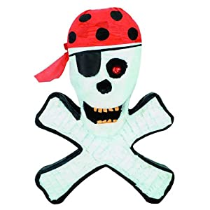 Click to buy Pirate Birthday Party Ideas: Skull and Crossbones Pinata from Amazon!