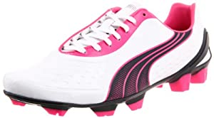 Puma Men's V1.11 SL Soccer Cleat,White/New Navy/Pink,12 D US