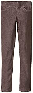 Tractr Big Girls' Pull On Cord Leggings, Grey, 16