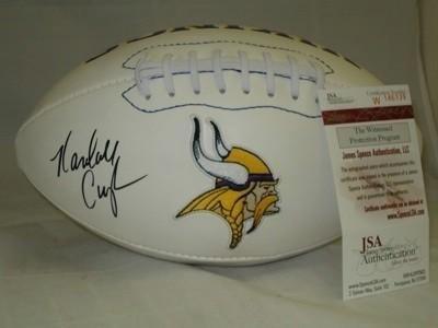Randall Cunningham Autographed Ball - Vikings JSA - Autographed Footballs