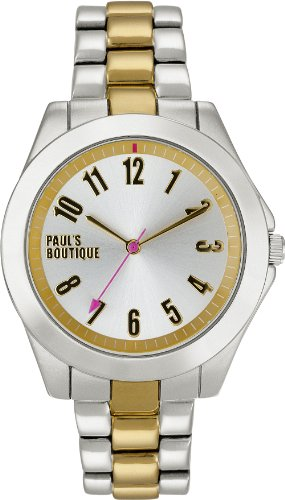 Paul's Boutique Women's Quartz Watch with Silver Dial Analogue Display and Multicolour Bracelet PA001SLTT