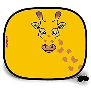 123t ANI-MATES GIRAFFE PLAIN Baby/Child Vehicle Sunshade x 1