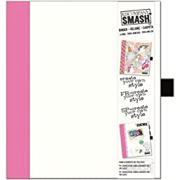K&Company 30-685987 SMASH Paper Binder, White with Pink by K&Company