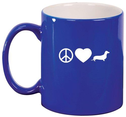 Mustache Ceramic Coffee Tea Mug Cup Blue