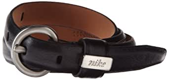 NIKE Women's Golf Skinny Glove Leather Belt (Black, Large)