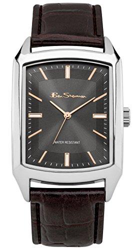 ben-sherman-pu-bs135-reloj-de-cuarzo-para-hombres-con-esfera-gris-y-correa-marron-de-cuero